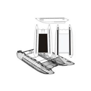 Надувной катамаран Badger FS 380 Black&White