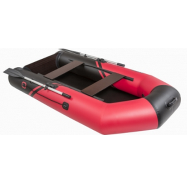 Надувная лодка Пеликан 270Т RIVER (черный/красный)