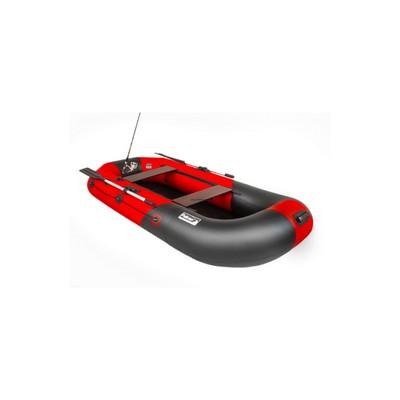 Надувная лодка Пеликан 270 RIVER (черный/красный)